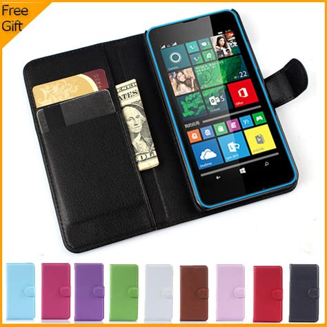 Flip Leather Dompet View Book Cover Casing Microsoft Lumia 535 aliexpress buy luxury wallet leather flip cover for microsoft lumia 640 lte dual sim