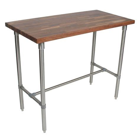 stainless steel butcher block table boos butcher block tables kitchen islands