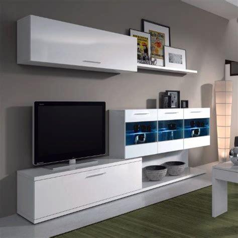 mueble tv varim muebles de mueble de salon comedor con leds acabado blanco brillo