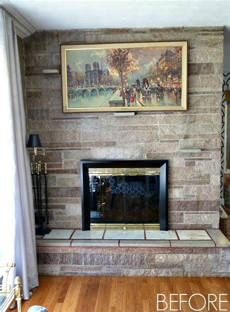 Before And After Fireplaces by Fireplace Makeover Before After Reveal Bliss At Home