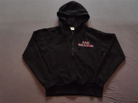 Jaket Sweater Hoodie Zipper Bad Religion zipped hoodie with pink crossbuster womens collectibles the bad religion page since 1995