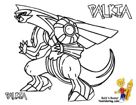 Pokemon Palkia Colouring Pages sketch template