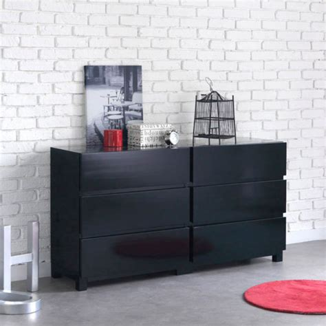 commode 6 tiroirs new york noir anniversaire 40 ans