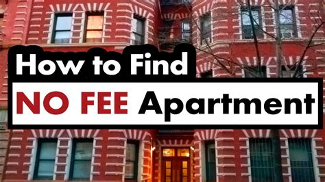 how to buy an apartment how to find a no fee apartment in new york city youtube