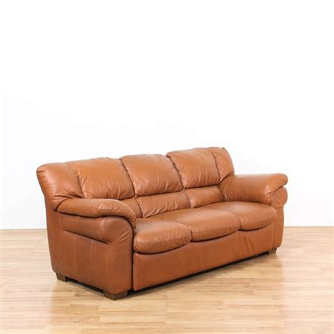 Brown Oversized Leather Sofa Loveseat Vintage Furniture Leather Sofas In Los Angeles