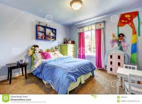 Modern Teenage Bedrooms - blue girls bedroom interior child room royalty free stock photography image 25858947