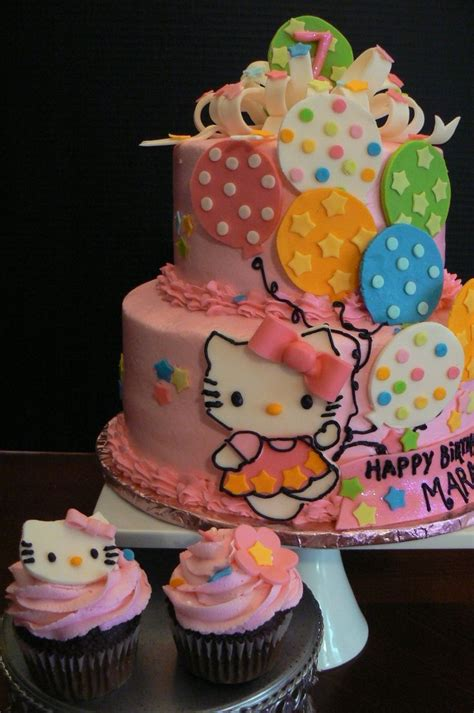 Cupcake Tema Hellokitty 1000 images about cakes on birthday cakes hello birthday cake and