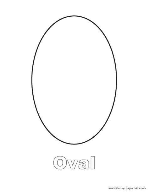 template for oval shape pin by my schoolhouse on july august preschool