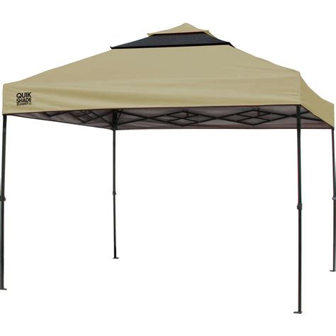 instant shade awning quik shade sx100 10 ft x 10 ft taupe graphite instant