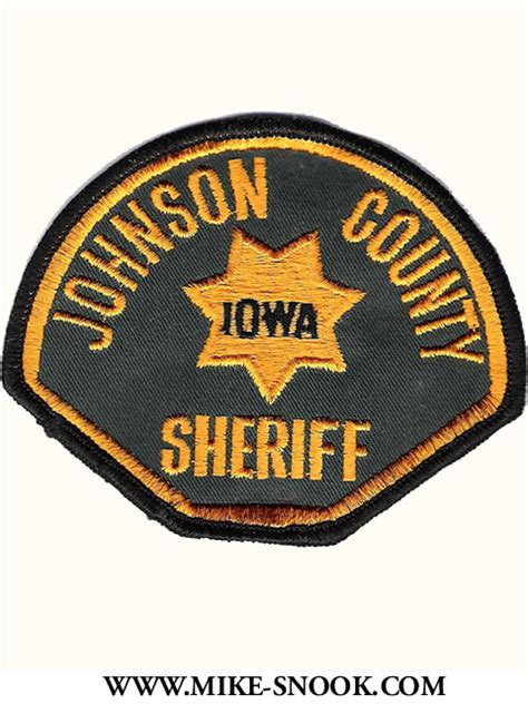 Johnson County Sheriff S Office by Mike Snook S Patch Collection State Of Iowa