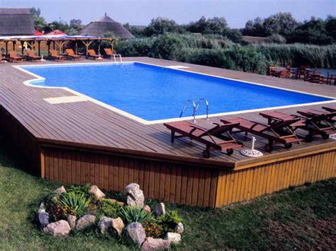 Above Ground outdoor large above ground pool with deck above ground pool with deck above ground pool deck
