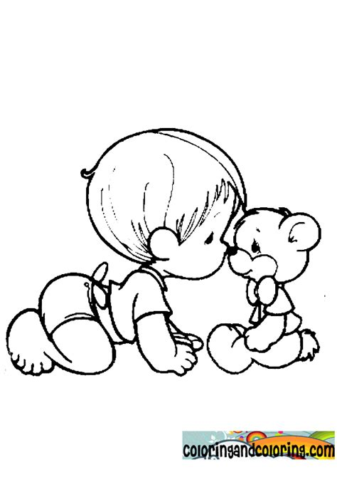 coloring page of baby boy free coloring pages of boy baby rattle