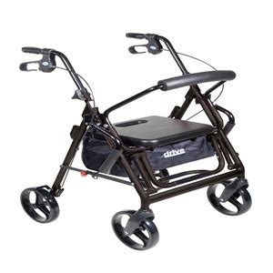 Drive Duet Rollator Transport Chair - drive devilbiss healthcare duet dual function transport