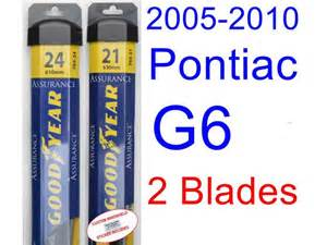 2008 Pontiac G6 Wiper Blades 2005 2010 Pontiac G6 Replacement Wiper Blade Set Kit Set