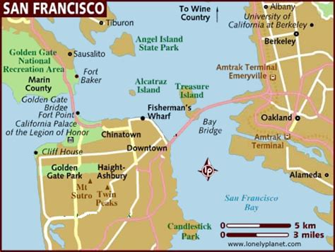 san francisco map of tourist attractions san francisco