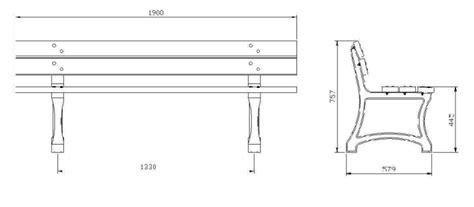 dimensioni panchina panchina in legno e ghisa dresde