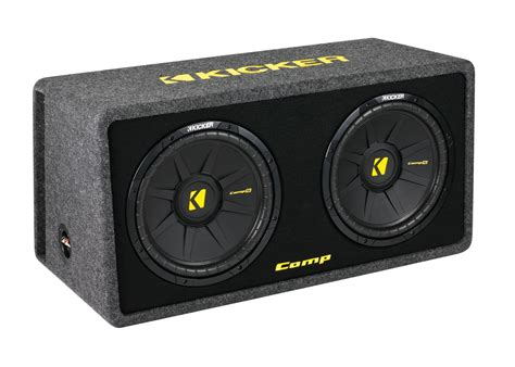 Speaker Subwoofer Kicker kicker car audio dcws12 dual comps 12 quot loaded sub woofer mdf stereo enclosure box 2 ohms
