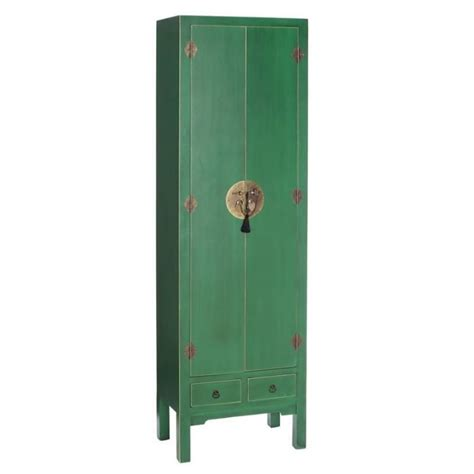 Armoire Lingere by Armoire 232 Re 2 Portes 2 Tiroirs Vert Meuble Chinois