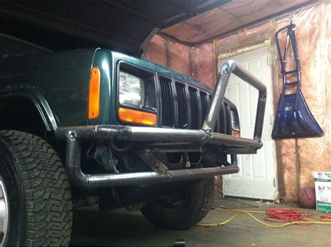 homemade jeep bumper homemade tubular bumper build jeep cherokee forum