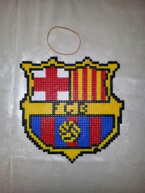 football perler crafting football and barcelona football on