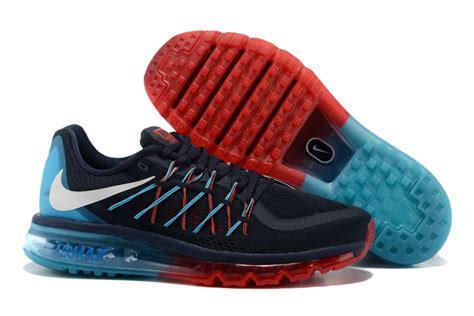 cheapest mens running shoes nike air max 2015 mens black blue running shoes cheap