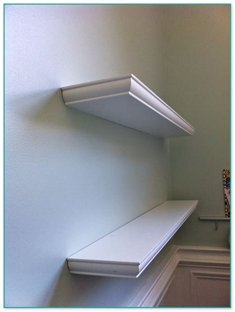 light wood floating shelves
