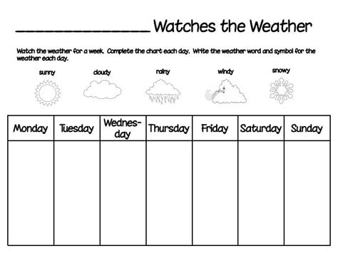 Free Printable Weather Chart For Toddlers Printable 360 Degree Weather Graph Template