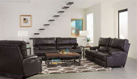 steel living room furniture wembley steel lay flat reclining living room set from catnapper coleman furniture