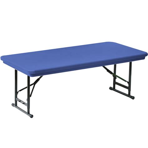 Folding Banquet Table Legs Correll Adjustable Height Folding Table 30 Quot X 72 Quot Plastic Blue Legs R Series Ra3072s
