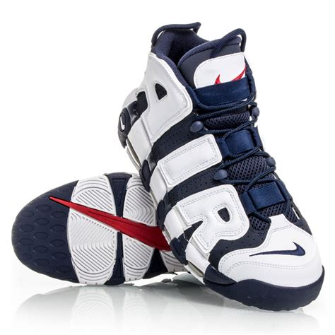 nike air basketball shoes nike air more uptempo mens basketball shoes white navy