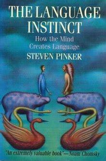 the language instinct the the language instinct wikipedia