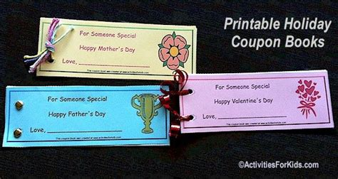 custom coupon book template 38 best images about s day crafts for on
