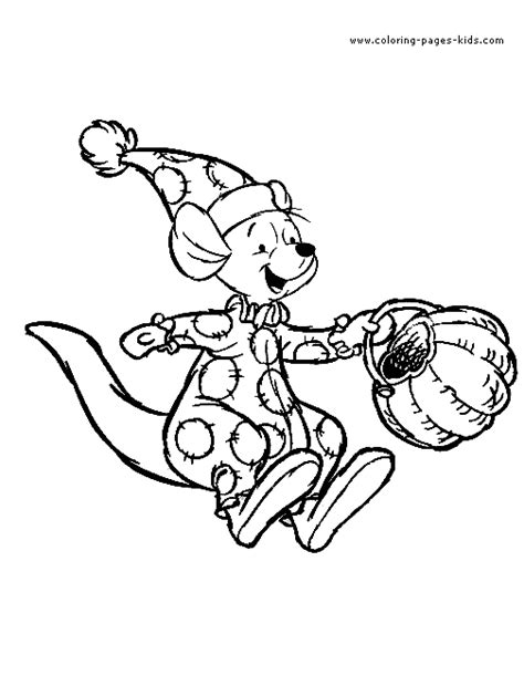 winnie the pooh halloween costume coloring sheet