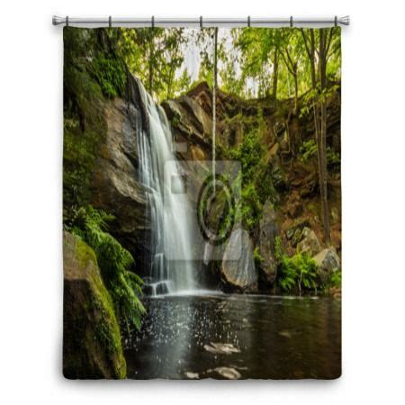 waterfall shower curtains 1000 images about waterfalls shower curtains on pinterest