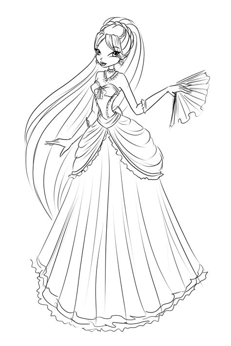 coloring pages ball gowns com sketch diana ball dress by laminanati on deviantart