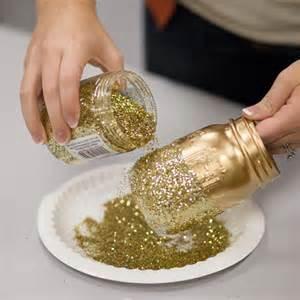 Gold Glitter Vase Diy Glitter Mason Jars Mason Jar Crafts