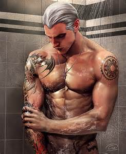 shower time by aenaluck on deviantart