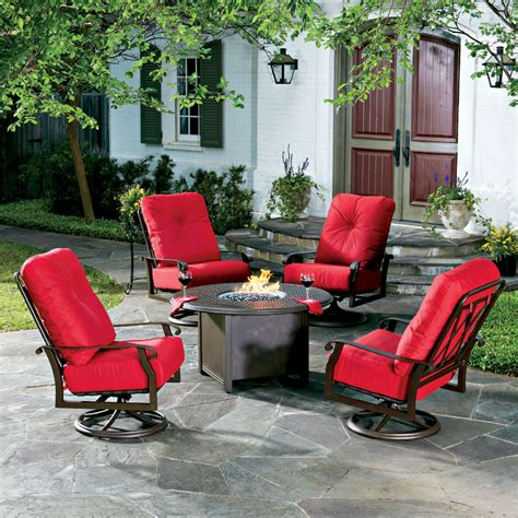 Patio Furniture Usa Woodard Hton Pit Table With Aluminum Base 650747 Hton