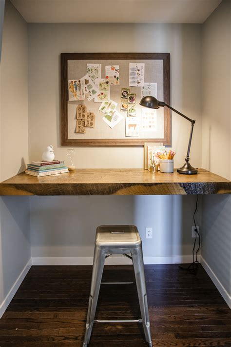Reclaimed wood desk home office contemporary with built in desk desk lamp beeyoutifullife com