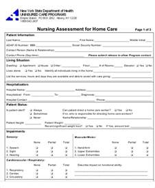home health nursing assessment and care planning assessment form in pdf file userpage selfassessment form