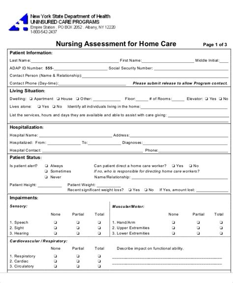 assessment form in pdf file userpage selfassessment form