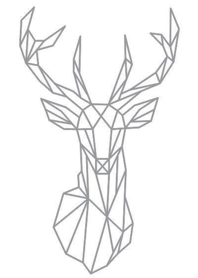 geometric cat coloring page geometric deer sticker readysetdecor