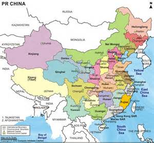 Political Map Of China by His 374 574 Modern China Skills Project