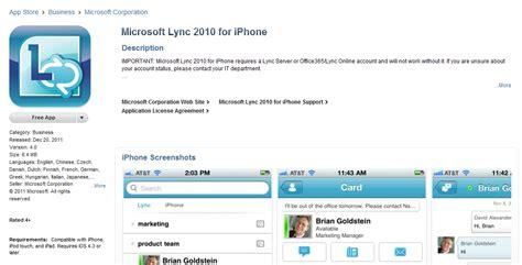 lync mobile app lync 2010 mobile client released for apple ios i m lovin it