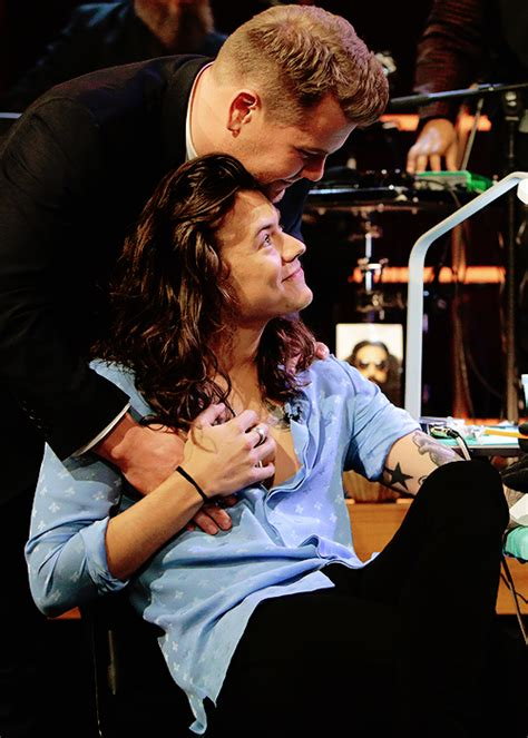 harry styles tattoo james corden the late late show with james corden harry styles photo