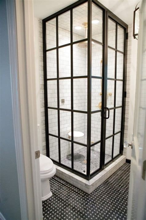 Shower Stall Glass Door If You Re Gonna Do A Glass Shower Door This Vintage Glass Panel Door Is The Way To Go