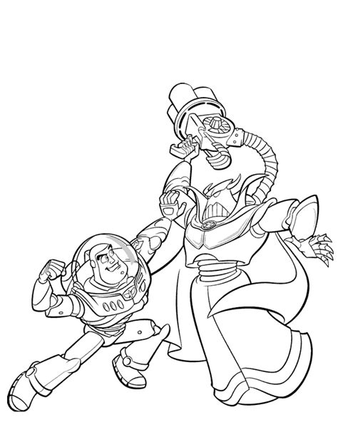 zurg coloring pages printable buzz lightyear color pages coloring home