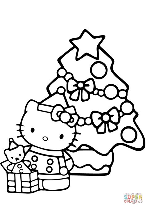 hello kitty xmas coloring pages hello kitty coloring pages christmas printable kids coloring