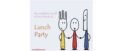 Free Lunch Invitation Card Template by Free Lunch Invitation Card Invitations