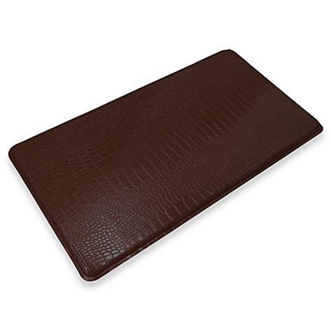 gel mats for kitchen buy gelpro 174 original gel filled anti fatigue crocodile kitchen mat in truffle from bed bath beyond